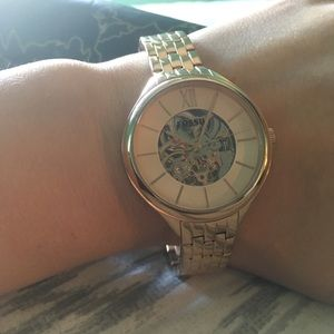 🌹ROSE GOLD 🌹 FOSSIL OPEN FACE WOMEN'S WRISTWATCH